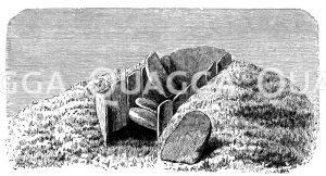 Steinkistengrab  bei Skottened Zeichnung/Illustration