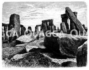 Stonehenge bei Salisbury in Südengland Zeichnung/Illustration