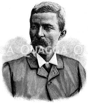 Henry Morton Stanley (geb. 28. Januar 1841) Zeichnung/Illustration