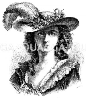 Elisabeth Lebrun. Nach einem Selbstporträt Zeichnung/Illustration