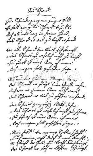 Gedicht 'Das Schwerd' von Ludwig Uhland Zeichnung/Illustration