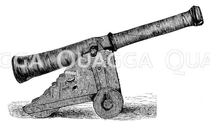 Lederkanone der schwedischen Artillerie (Historisches Museum zu Stockholm) Zeichnung/Illustration