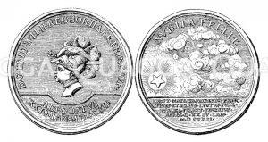 Silberne Medaille auf die Geburt Friedrichs des Großen Zeichnung/Illustration
