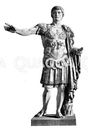 Germanicus. Antike Marmorstatue im lateranischen Museum zu Rom Zeichnung/Illustration