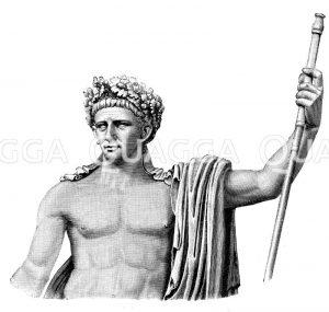 Claudius. Triumphalstatue im Vatikanischen Museum Zeichnung/Illustration