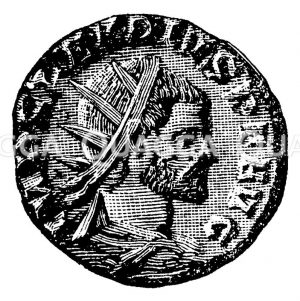 Aurelianus. Münzporträt. Nach Imhoof-Blumer Zeichnung/Illustration