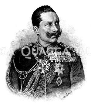 Kaiser Wilhelm II. Zeichnung/Illustration