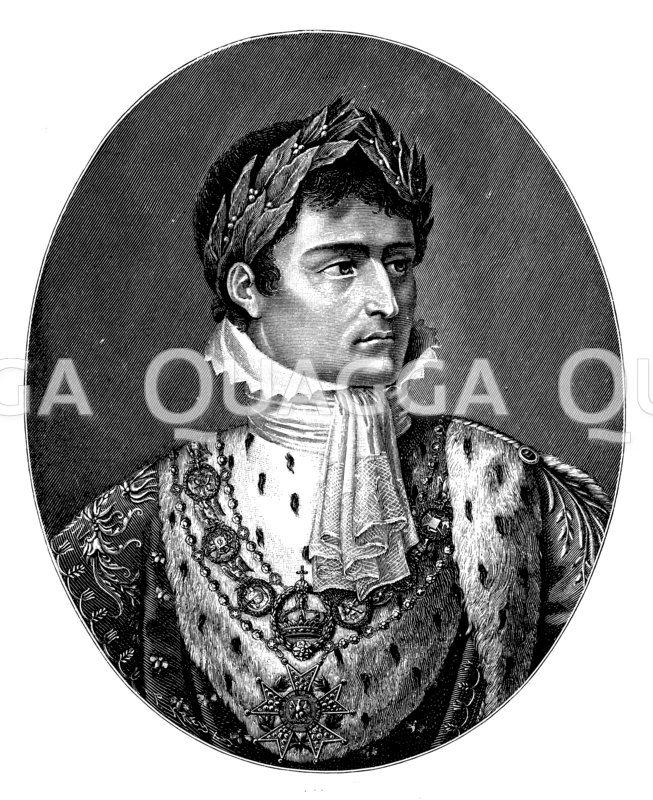 Napoleon I. mit Lorbeerkranz Nach dem Gemälde von Charles de Chatillon