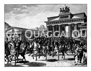 Einzug Napoleons I. in Berlin. 1806. Nach dem Bild von Wolf
