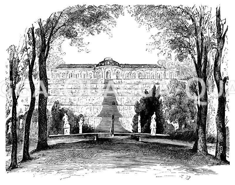 Sanssouci, Schloß (Potsdam, Deutschland, 1745-1747)