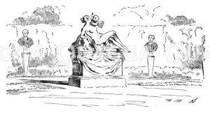 Statue im Park von Sanssouci Zeichnung/Illustration