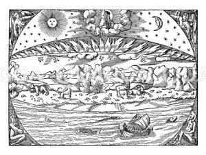 Erde nach der Schöpfung Zeichnung/Illustration