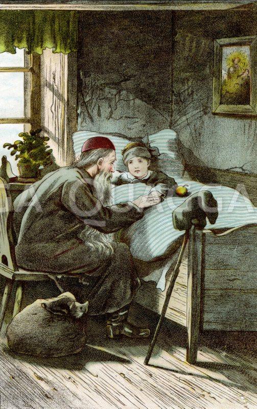 Nikolaus am Bett eines Kindes
