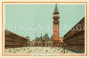 Markusplatz (Venedig, Italien, z.B. San Marco mit Campanile 11. - 14.Jh.)
