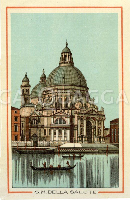 Venedig: S.M: Della Salute Zeichnung/Illustration