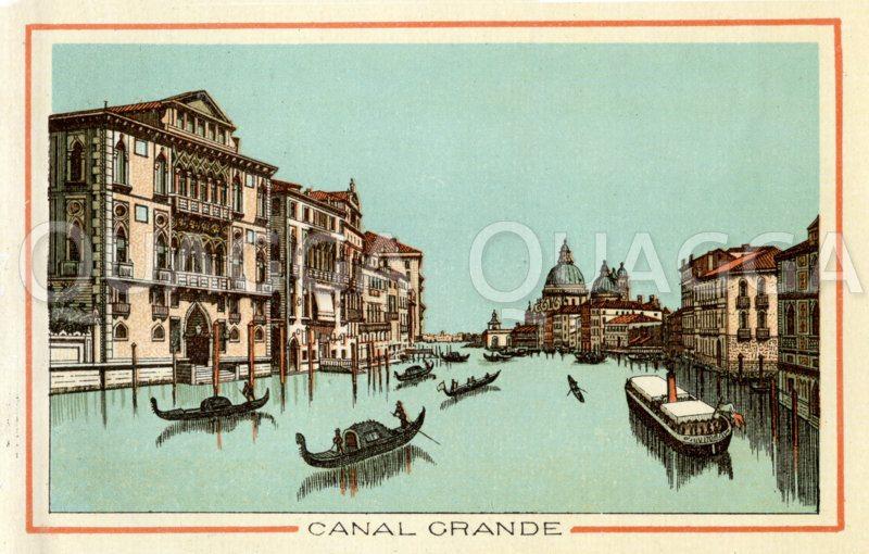 Venedig: Canal Grande Zeichnung/Illustration