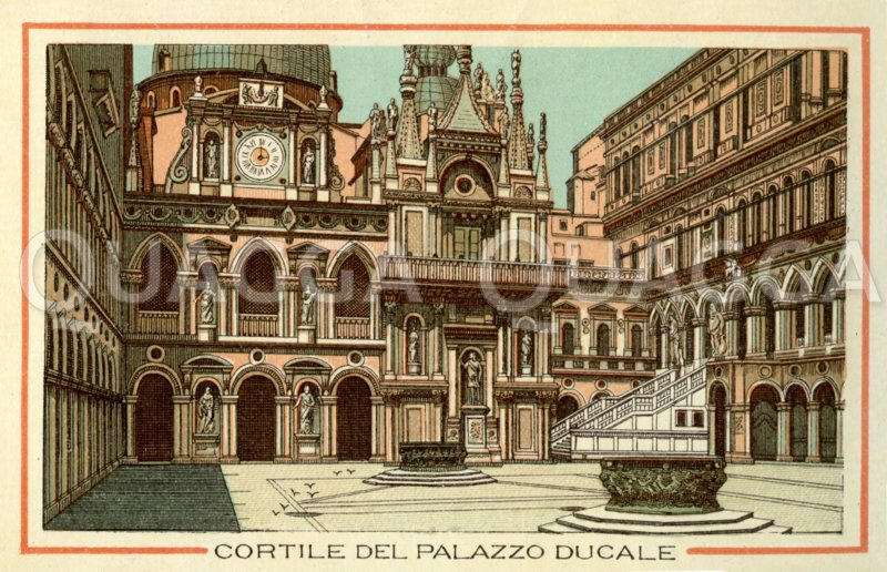Venedig: Cortile des Palazzo Ducale Zeichnung/Illustration