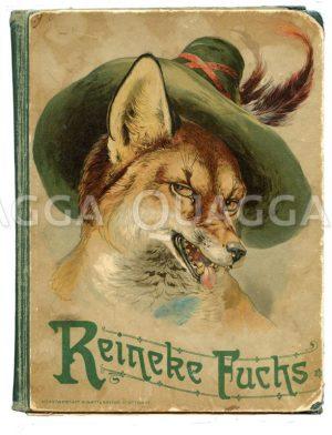 Zerlesenes Exemplar von 'Reineke Fuchs' Zeichnung/Illustration