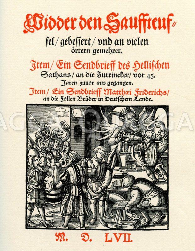 Widder den Sauffteuffel von Matthäus Friedrich Zeichnung/Illustration