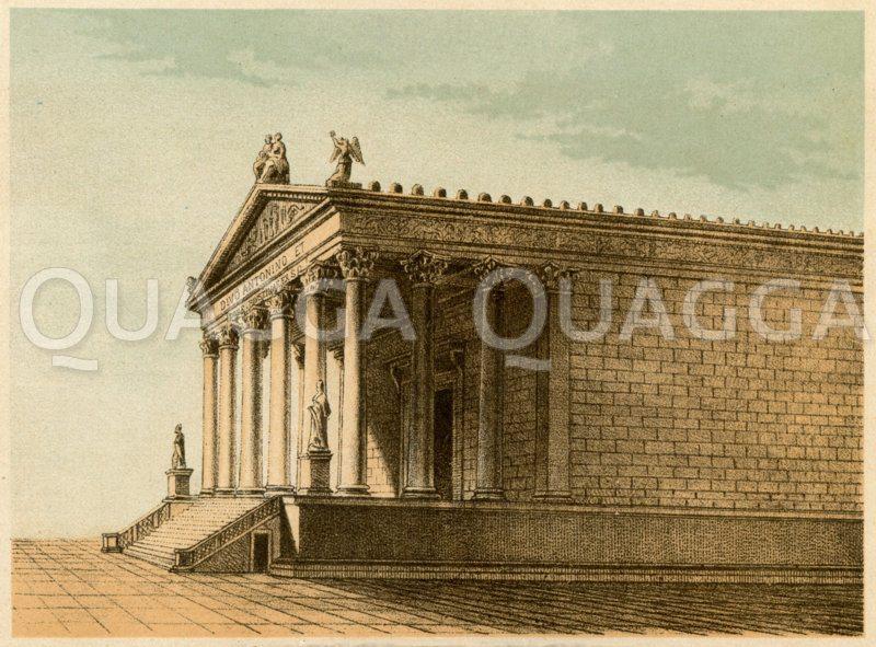 Templum Antonini et Faustinae Zeichnung/Illustration