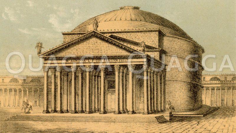 Pantheon Zeichnung/Illustration