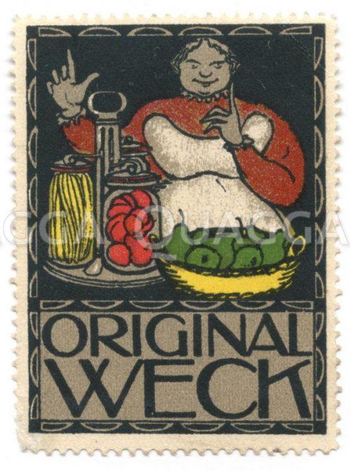 Reklamemarke Weck-Einmachgläser