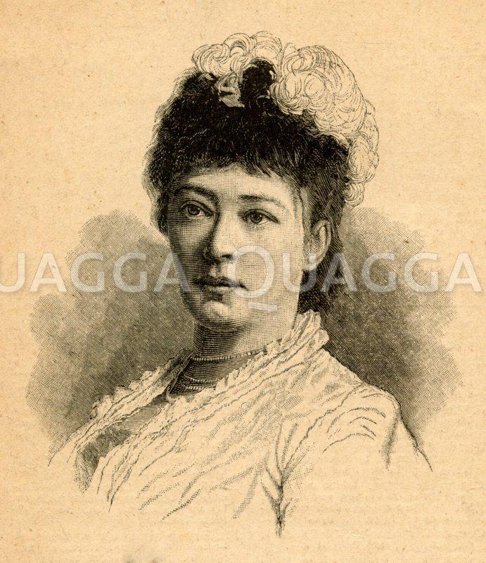 Bertha von Suttner: Porträt Zeichnung/Illustration