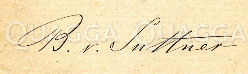 Bertha von Suttner: Autograph Zeichnung/Illustration