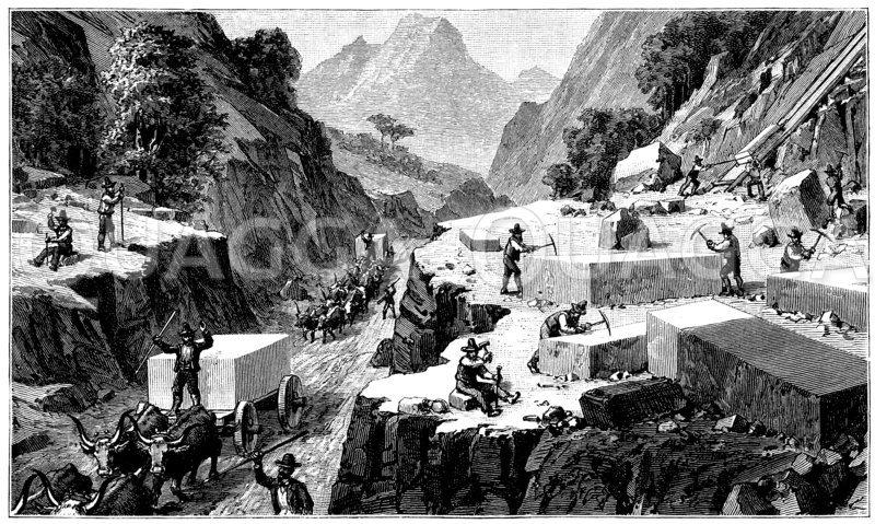 Marmorsteinbruch in Carrara