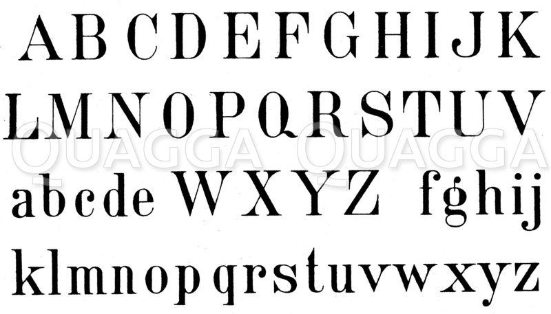 Alphabet: Römische Schrift Zeichnung/Illustration