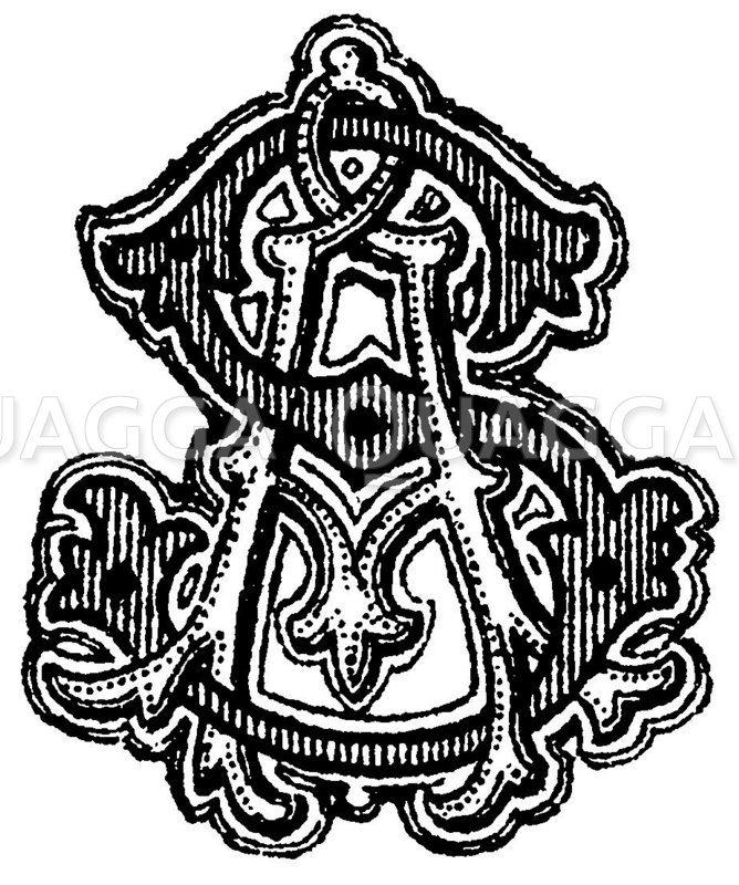 Monogramm AS Zeichnung/Illustration