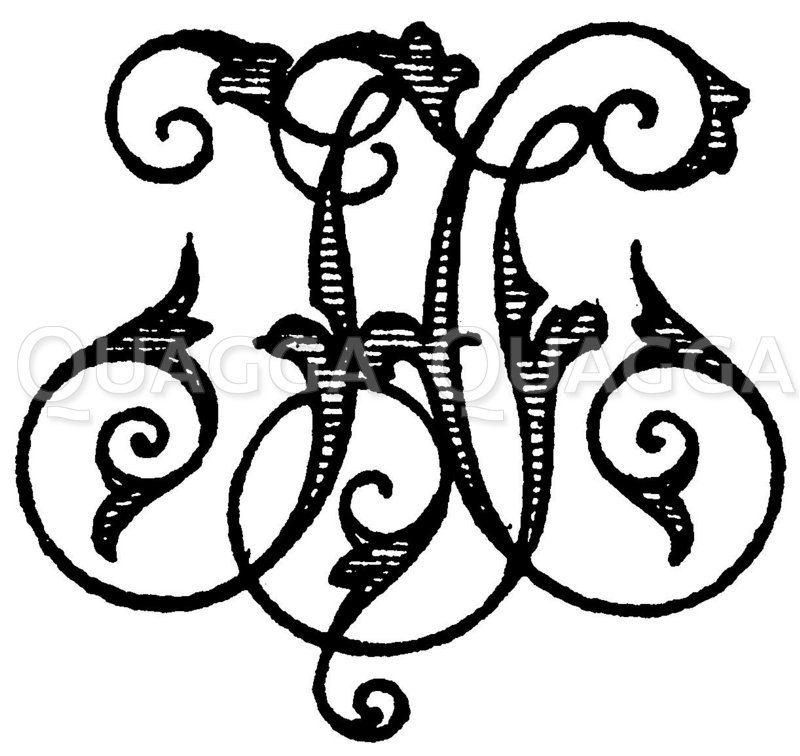 Monogramm JH Zeichnung/Illustration
