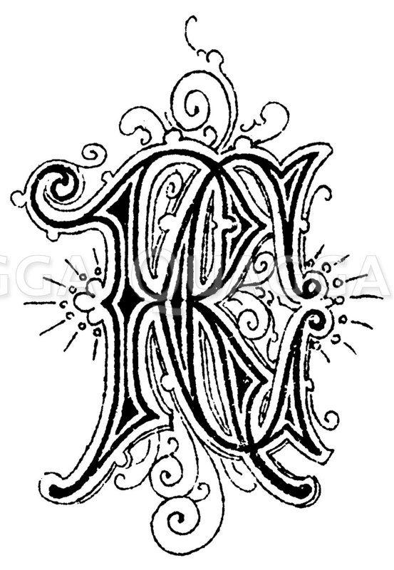 Monogramm RC Zeichnung/Illustration