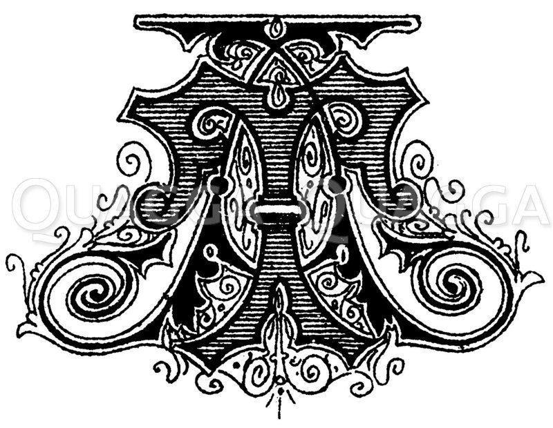 Monogramm TA Zeichnung/Illustration