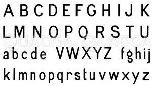 Alphabet: Steinschrift Zeichnung/Illustration