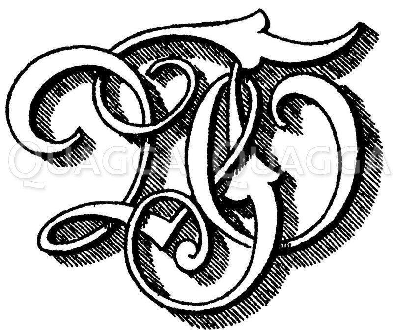 Monogramm WT Zeichnung/Illustration