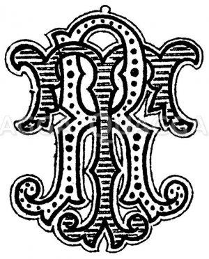 Monogramm TR Zeichnung/Illustration