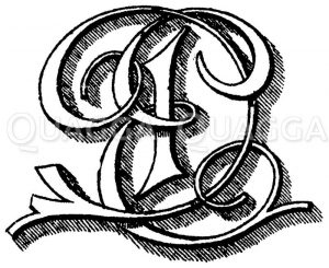 Monogramm DE Zeichnung/Illustration