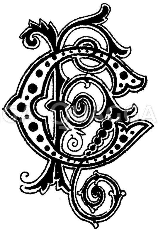 Monogramm HC Zeichnung/Illustration