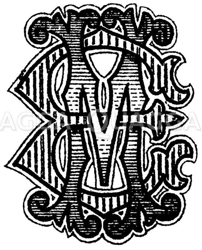 Monogramm ME Zeichnung/Illustration