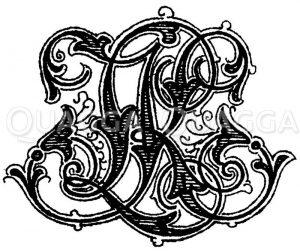 Monogramm LK Zeichnung/Illustration