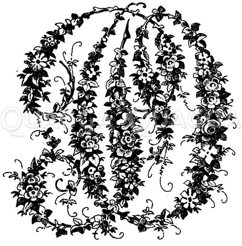 Monogramm PO Zeichnung/Illustration