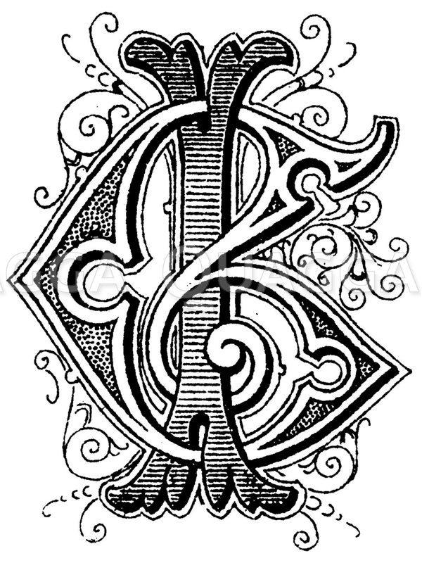 Monogramm IG Zeichnung/Illustration