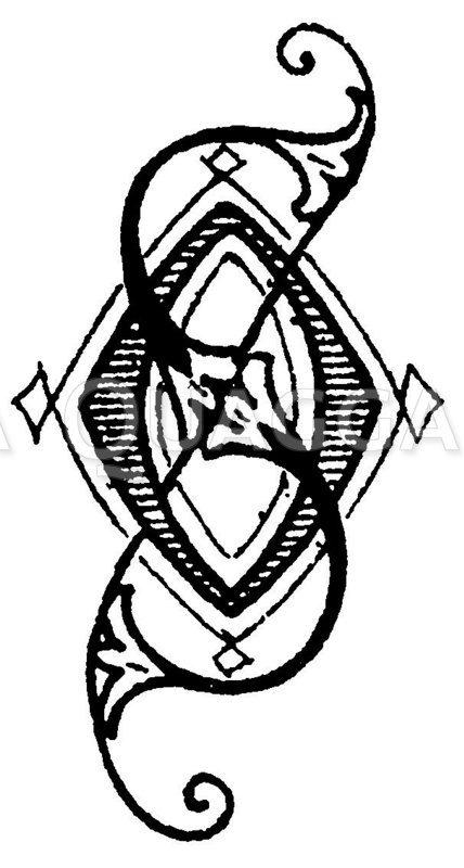 Monogramm OS Zeichnung/Illustration