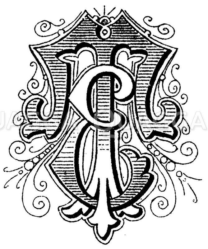 Monogramm ET Zeichnung/Illustration