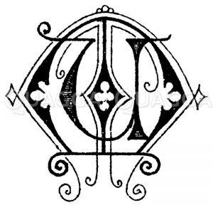 Monogramm UM Zeichnung/Illustration