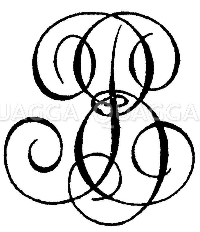 Monogramm BE Zeichnung/Illustration