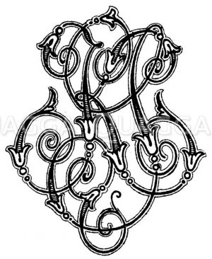 Monogramm KS Zeichnung/Illustration