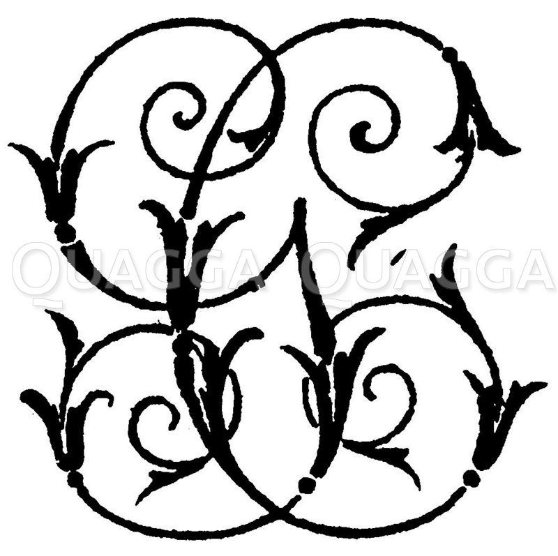 Monogramm GC Zeichnung/Illustration