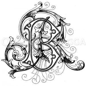 Monogramm BR Zeichnung/Illustration